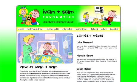 ivan and sam foundation website kids helping kids fight cancer